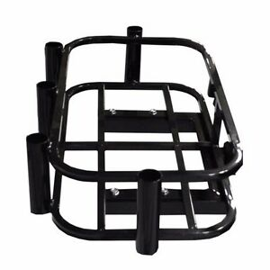 Hitch mount cooler fishing rod holder rack for golf for Golf cart fishing rod holder