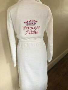 hot-selling professional amazing quality clearance prices Details about Personalised His/Her Luxury Embroidered 100% Cotton Bathrobe  ,Dressing gown,robe