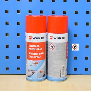 20-44-L-2x400ml-Wurth-ACERO-inox-Spray-de-Cuidado-Limpiador-ENFERMERA