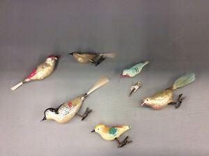 image is loading lot of antique mercury glass christmas ornament birds