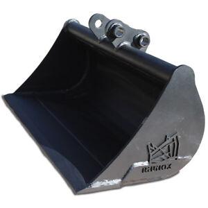 """E18 E19 6/"""" Rhinox Mini Digger E16 Excavator Bucket For Bobcat E14"""