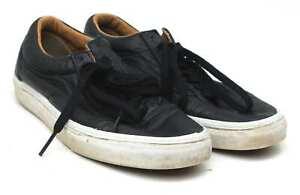 Vans-Mens-UK-Size-7-5-Black-Leather-Trainers