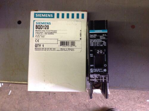 SIEMENS BQD120 20 AMP 277 VOLT 1 POLE CIRCUIT BREAKER