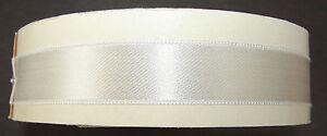 Vintage Bridal Satin Trim -  White Swiss Made Ribbon on original roll. Code 870.