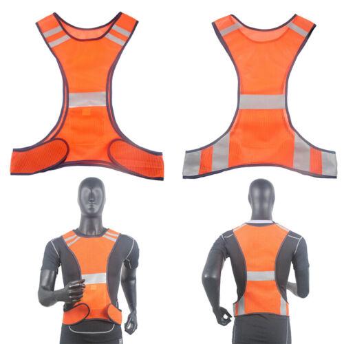 Gilet Sécurité Haute Visibilité Fluo Réfléchissant Manteau Vest Orange//Vert Vélo