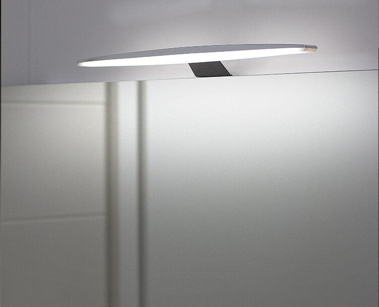 LED Aufbauleuchte Schrankleuchte Spiegellicht Set Alu Fuß-Dimmschalter Kaltweiß
