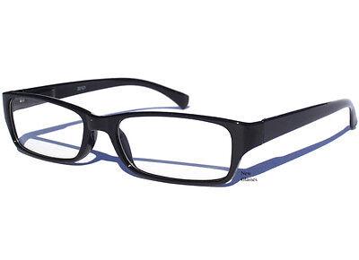 BLACK FRAME CLEAR LENS GLASSES Polite Hipster Retro Smart Nerd Retro Small New