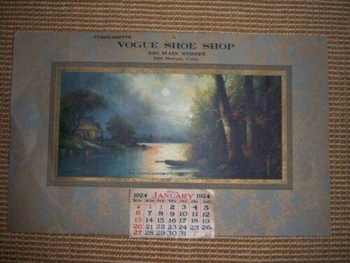 du Vintage Calendrier 236 magasin Main rue Vogue de chaussures 1924 Uni Royaume AxwO5HqgfO