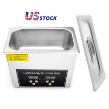 Stainless Steel 3l Industry Heated Ultrasonic Timer Cleaning Heater Device Usa