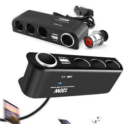 12//24V 2x USB Auto Adapter 4 fach Zigarettenanzünder Verteiler Mehrfachstecker