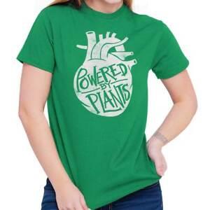 06679b4b9b Powered By Plants Funny Gift Vegan Cool Cute Heart Edgy Gym T-Shirt ...
