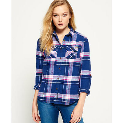 New Womens Milled Flannel Shirt Quinn Check