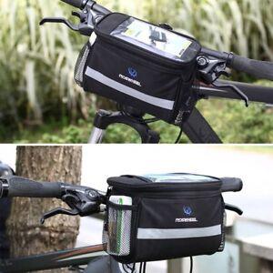 0c24338b522 Bicycle Bike Handlebar Bag Cycle Reflective Front Pannier Waterproof Outdoor