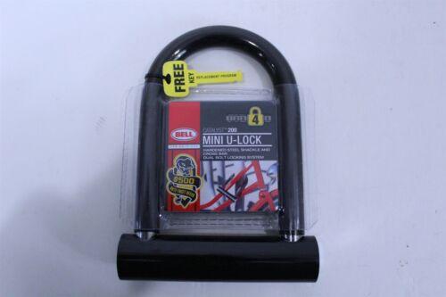 Bell Sports Catalyst 200 Mini U-Lock Steel Shackle /& Cross Bar Dual Bolt Locking