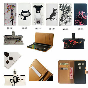 Leather-Wallet-Holder-Card-Case-Stand-Cover-For-Sony-Nokia-HTC-Various-Phone-XH