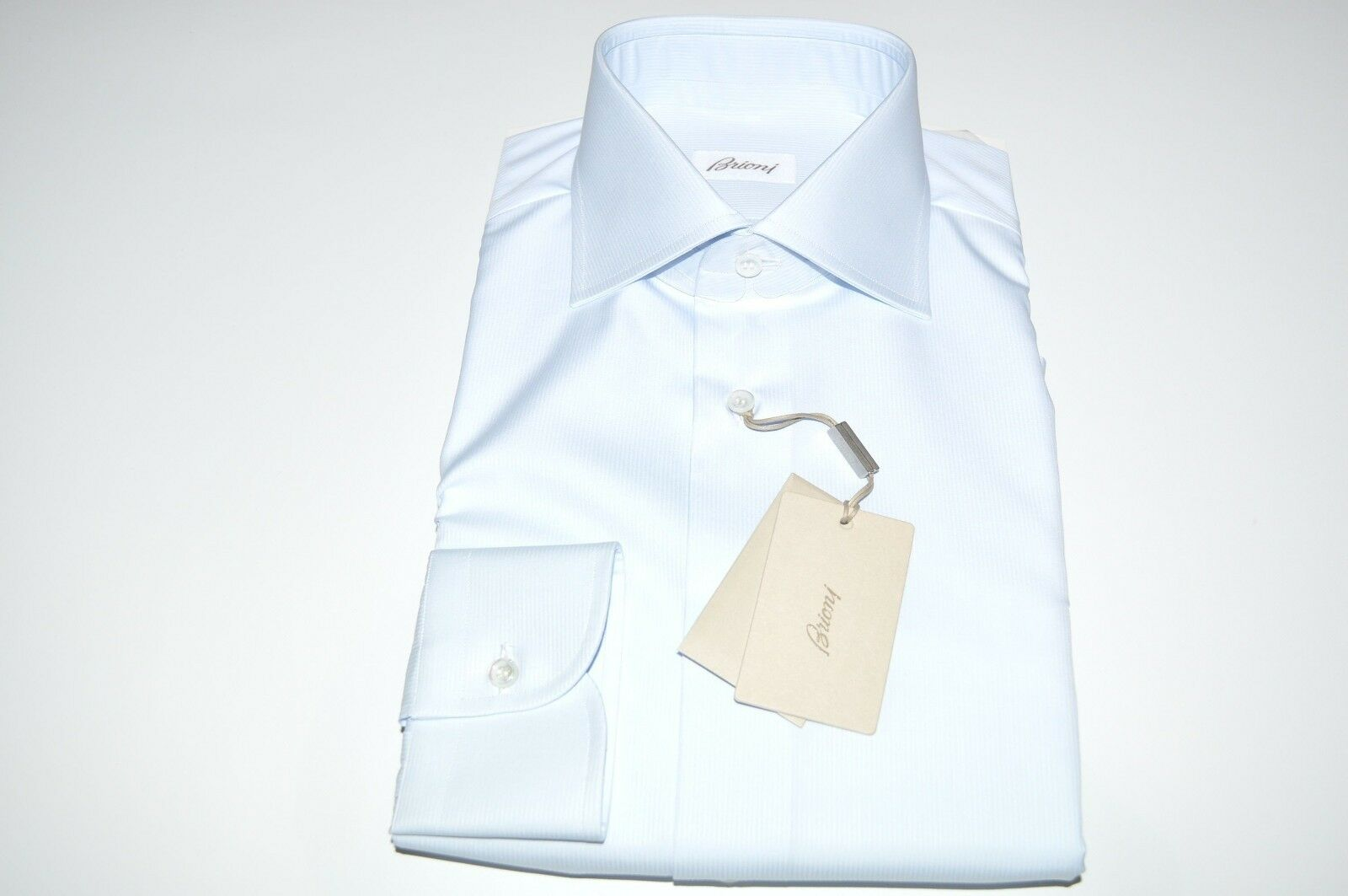 NEW  BRIONI Dress SHIRT 100% Cotton Size 17.5 Us 44 Eu bluee (Store Code MA21)