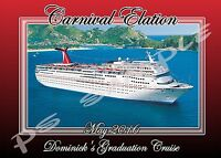 5x7 Carnival Cruise Line (any Ship) - Travel Souvenir Custom Fridge Magnet