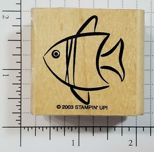 Fishing Wood Mounted Rubber Stamp From Stampin Up