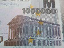 NEW €1 Million Banknote Bill E1,000,000 Euro Novelty Millionaire Gift Europe LOL