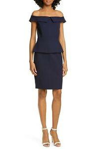 Ted-Baker-London-Bardot-Off-Shoulder-Peplum-Waist-Dress-TB-SZ-5-US-Size-14-315