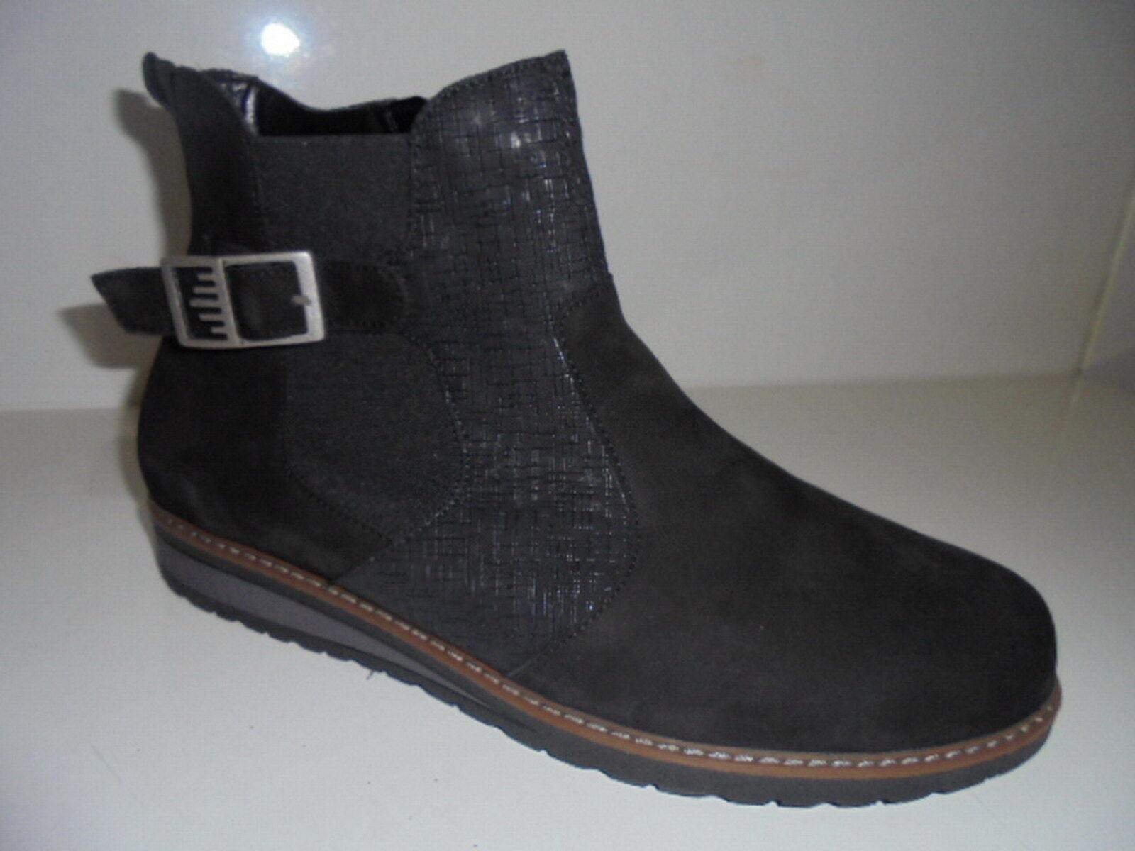 675816 Waldläufer Damenstiefelette Boots Warmfutter Leder schwarz UK 9 Gr.43