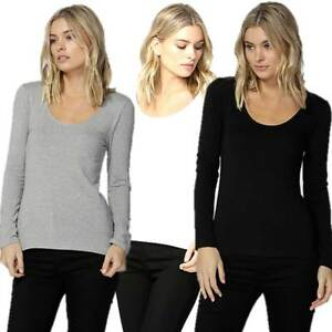 Long-Sleeve-Top-BETTY-BASICS-Plus-Sizes-10-12-14-16-18-Madonna-Scoop-Neck-Tee
