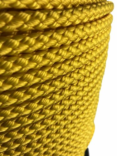 12mm Yellow Bondage Rope Soft To Touch Rope x 10 Metres