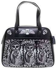 Sourpuss Purse Memento Mori Bowler Skull Skeleton Undead Punk Goth Bag SPPU117