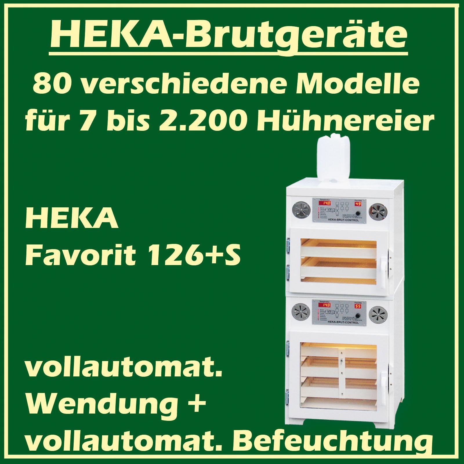 Heka preferito 126s  BRUT dispositivo con con con separata slittamento spazio, per 144100 uova di gallina 166a35