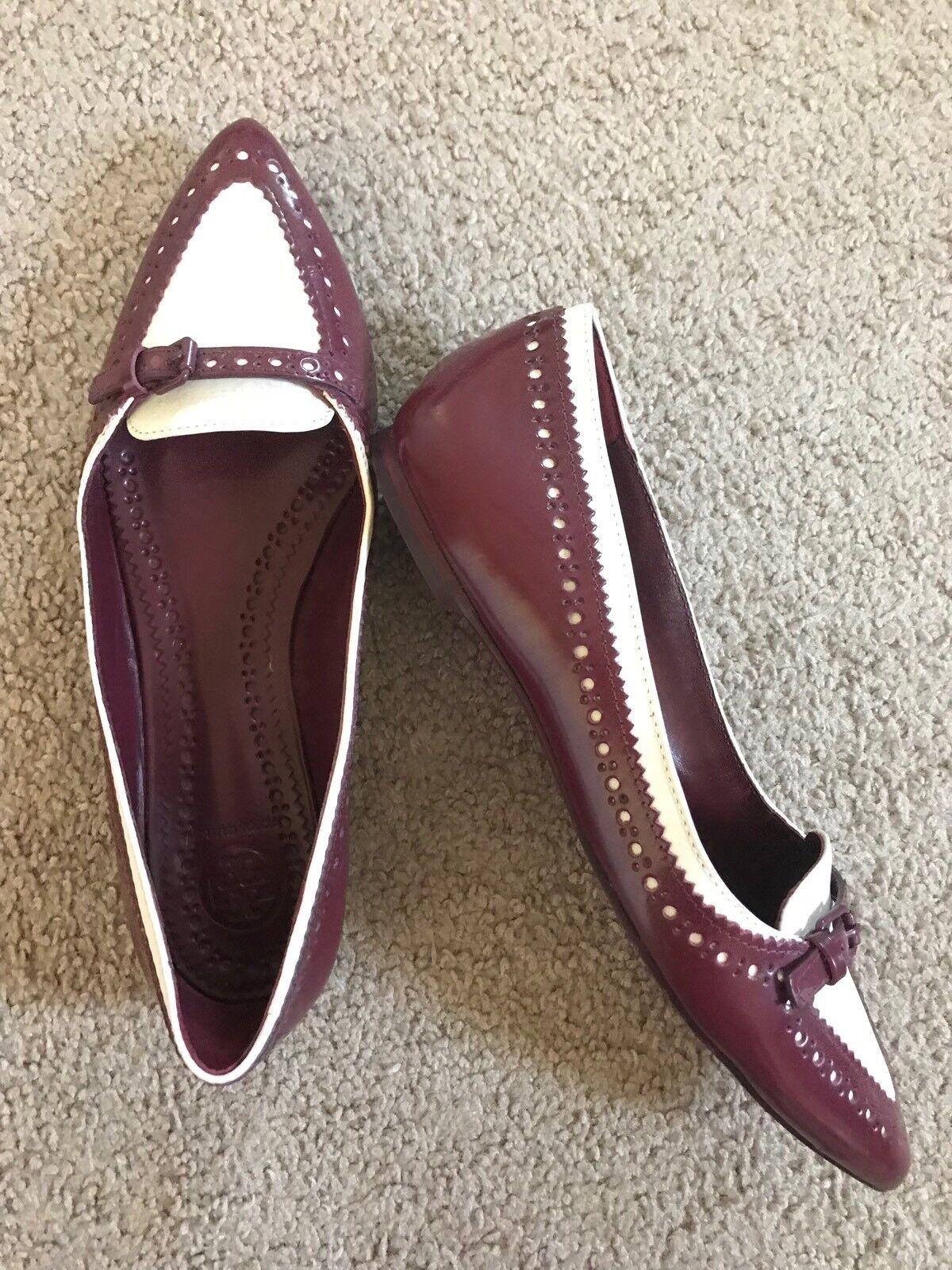Zapatos Ballerina Zapatos de tacón Tory Burch rosadolind todo el el el cuero tamaño 7 M Hecho En Brasil  marca en liquidación de venta