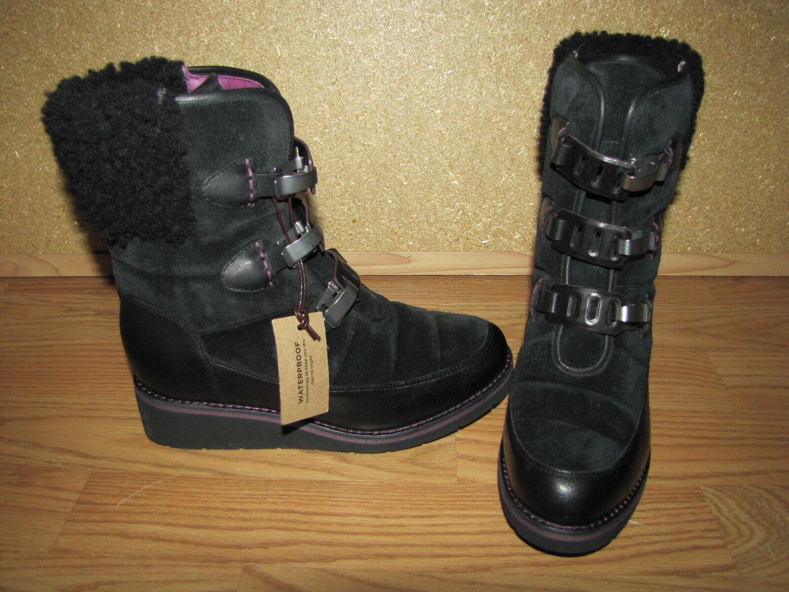 Nuevo Nuevo Nuevo Sin Caja Cole Haan negro resistente al agua 'aire Lania' botas al tobillo - 5B 35 euro.  se descuenta