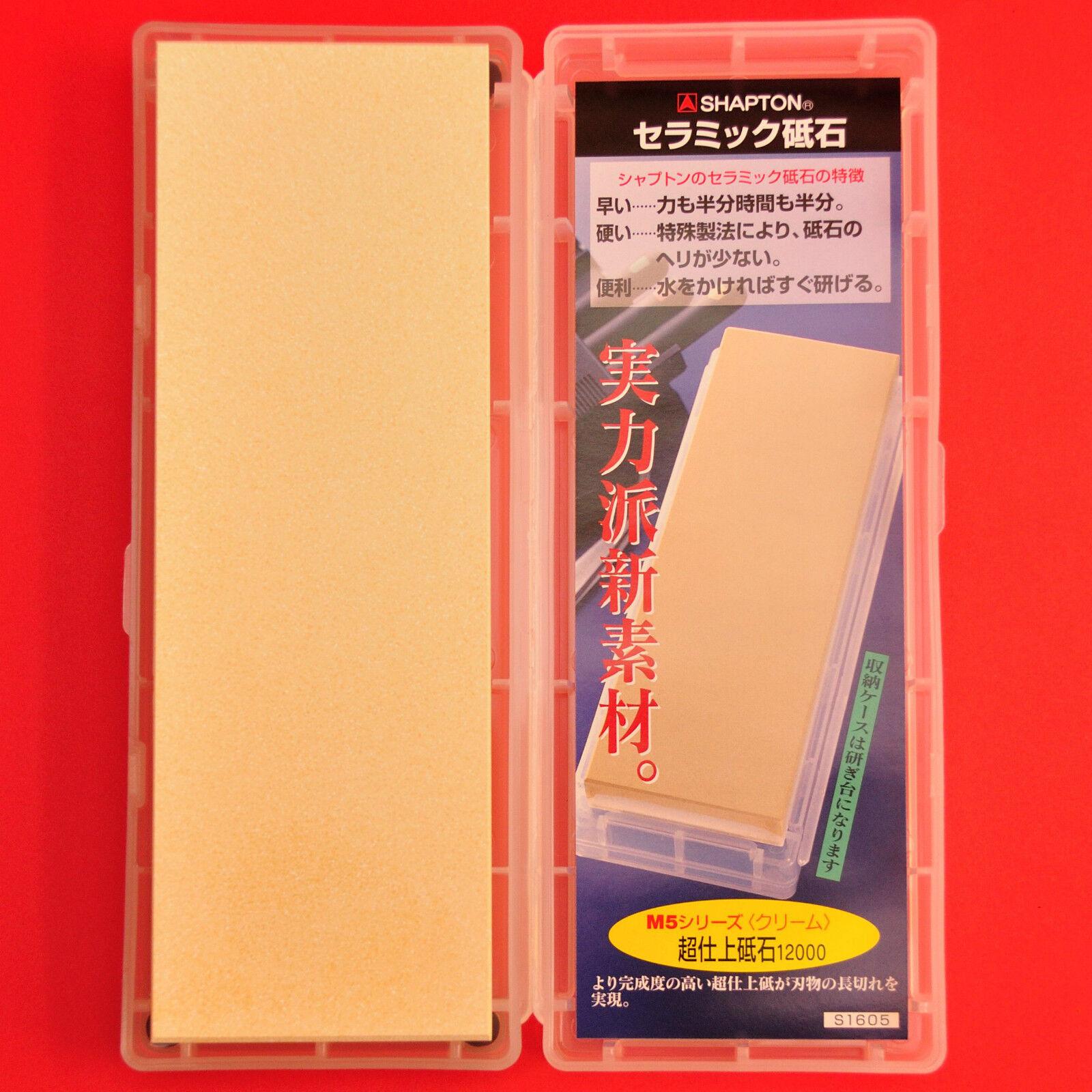 Pierre eau aiguiser Shapton M5 céramique affuter affutage couteau Japonais 12000