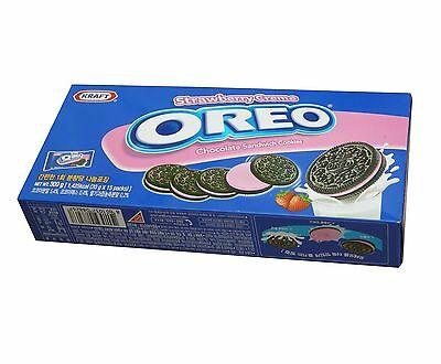 OREO O's Chocolate Sandwich Cookies Strawberry Creme 300 g
