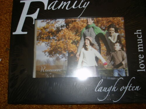 FAMILY  FRAME LAUGH OFTEN  HOLDS 4/' X 6/' PICTURE
