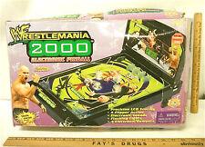 WWF  2000 Electronic Pinball Machine LCD Digital Display Sound