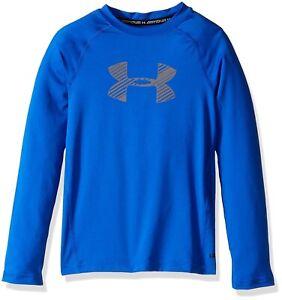 Under-Armour-148268-Boys-039-HeatGear-Armour-Long-Sleeve-Top-Color-Blue-Sz-YXS