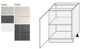 Relativ Unterschrank Küchenschrank 60cm Küche Korpus & Frontfarbe wählbar DW19