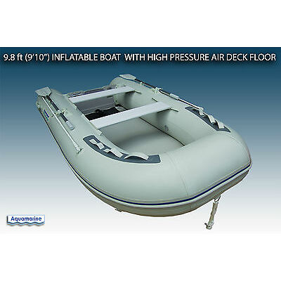 """9'10"""" (300 cm) inflatable boat with high pressure air floor DINGHY 4 person"""