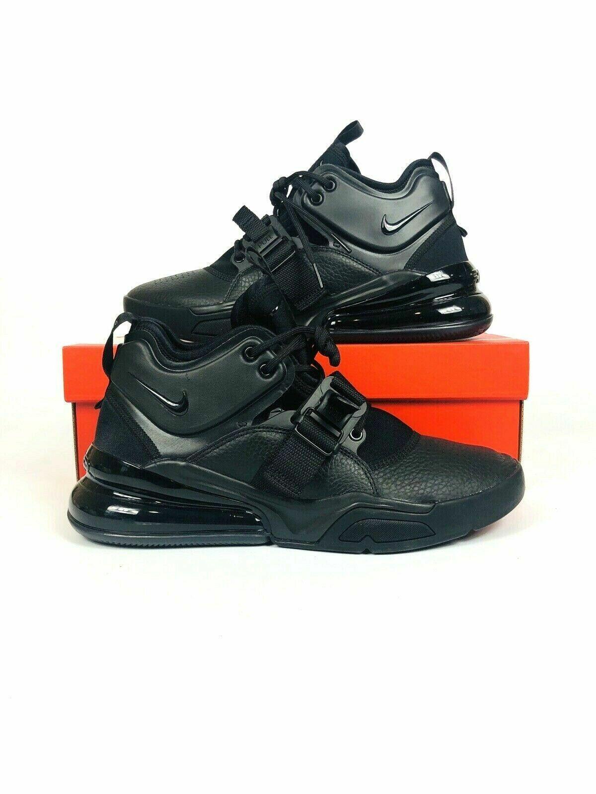 Nike Air Force 270 Triple Black Men Lifestyle shoes Sneakers AH6772-010 Sz 11.5