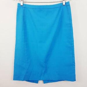 J-CREW-Womens-Blue-Pencil-Skirt-Size-AU-12-or-US-8