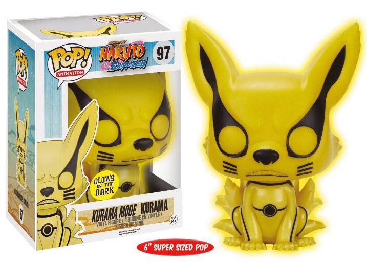 FIGURA NARUTO SHIPPUDEN POP FUNKO KURAMA BRILLO FOX FOX 15 CM ANIME MANGA  1
