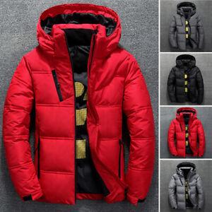 Мужские зимние ультралегкие утка вниз куртка сгустить Капюшон пуховый теплый верхняя одежда пальто