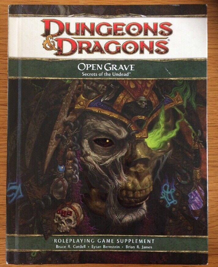 Dungeons & Dragons Open grave I SEGRETI DEI  MORTI VIVENTI 4e edizione rilegato  più ordine