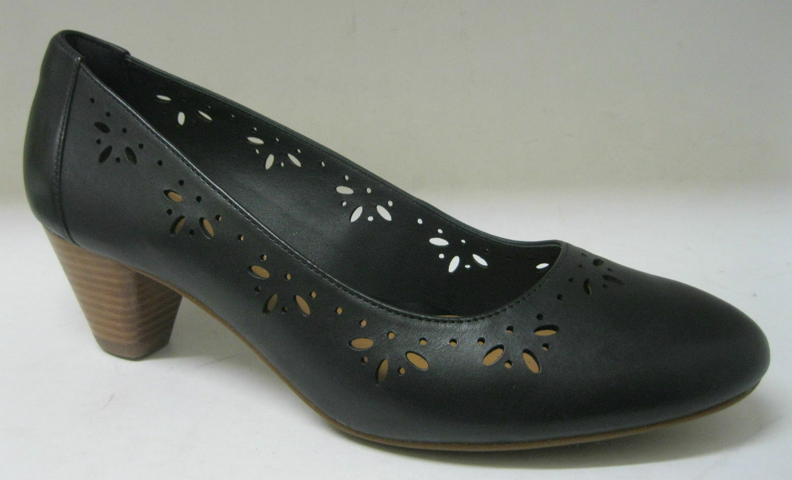 CLARKS 'DENNY DAZZLE' LADIES BLACK LEATHER EE FITTING