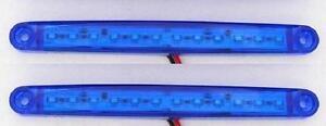 2x-24v-Azul-12-LED-LATERAL-PERFIL-Luces-de-marcaje-PARA-EL-CARRO-REMOLQUE