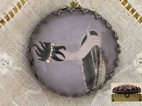 1 Erte Elegant Hand Glitter Art Deco Fashion Glass Metal Sewing Button Er29
