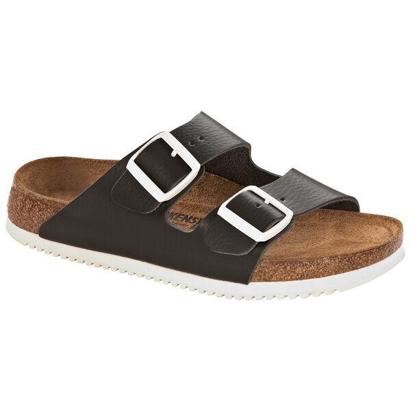 Birkenstock Arizona SL Naturleder Weichbettung Schuhe Black 230154 Weite Normal