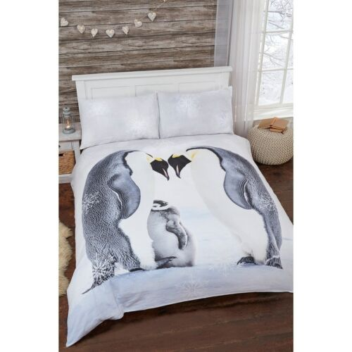 Winter Warmer Brushed Cotton Duvet Set With Two Pillow Cases King Size-326370