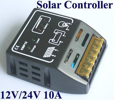 Solar-Laderegler Solar Panel Batterie Regulator Sicherer Schutz 10A 12V/24V