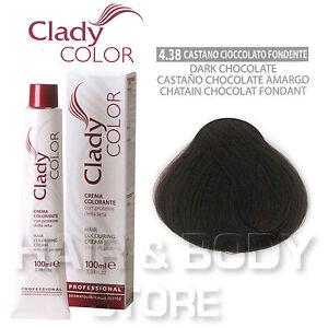 Dettagli Su Crema Colorante Clady 438 Castano Cioccolato Fondente Tintura Capelli Colore